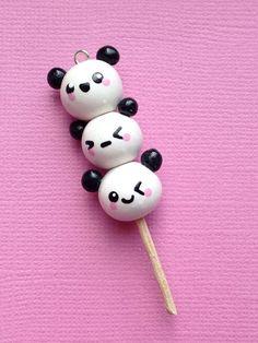 Kawaii Panda Polymer Clay Charm por PixieAddictions en Etsy