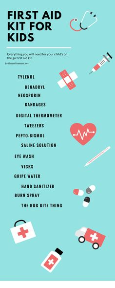 Everything a busy mom needs for her first aid kit