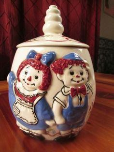 Raggedy Ann and Andy Cookie Jar