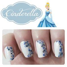 Cinderella Inspired Nails  via @Ange #nails #notd #mani