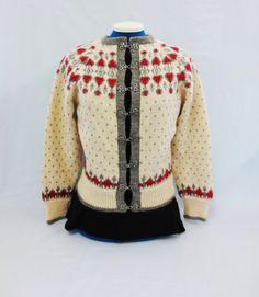 Handknit Nordic Fair Isle Wool Sweater O.Allers