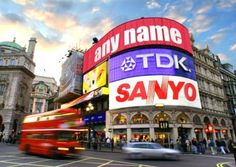 London's Picadilly Circus - like an ancient version of NY's Times Square!  LOL  Busy spot..