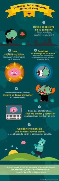 Cómo hacer tu marca tan contagiosa como un virus #infografia #infographic #marketing