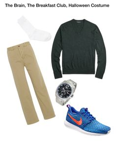 """""""The Brain, The Breakfast Club"""" by lisa-135 on Polyvore featuring J.Crew, Brooks Brothers, NIKE, Y's by Yohji Yamamoto and Tommy Hilfiger"""