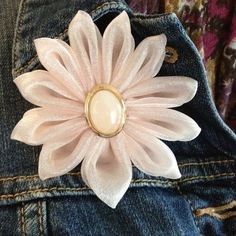 Handmade Flower Pins by IlNostroNido on Etsy, $10.00
