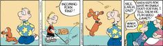 Wally of Drabble by Kevin Fagan- Dachshund, Wiener Dog Comics