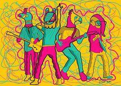 """Ilustración de """"Seguir Siendo"""" de Cafe Tacuba, exposición; Seguimos siendo."""