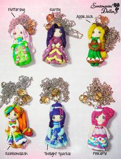 My Little Pony Necklace  Kawaii Polymer Clay by SentimentalDollieZ, $32.00