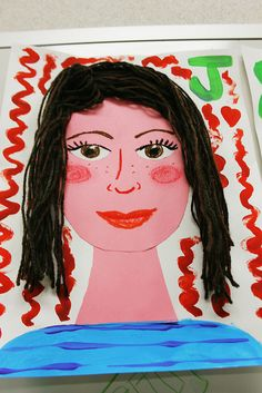 Silly Self Portraits art lesson idea