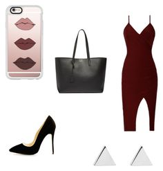 """Sin título #12"" by ximena-lozano-1 on Polyvore featuring moda, Casetify, Yves Saint Laurent y Jennifer Meyer Jewelry"