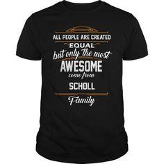 SCHOLL Name tee Shirts