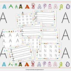 Grafomotricidad. Fichas del AbecedarioFichas del abecedario para aprender y repasar grafomotricidad, para los más pequeños y para todos aquellos que necesitan mejorar su caligrafía.