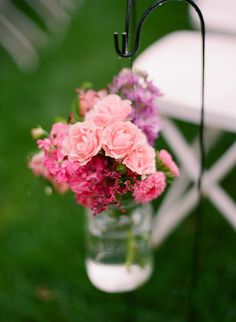 Create Beautiful Air Space with Hanging Floral Wedding Ideas - wedding ceremony idea; Wedding Photography: Sara Hasstedt | Floral Design: Sam's Club