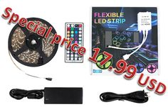 Now we offer Led strip lights with remote for special price 17.99USD. Order quickly offer is limited! http://www.amazon.com/Razon-Waterproof-Flexible-SMD5050-300leds/dp/B017FCNHMI