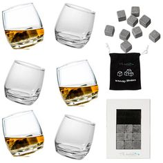 Check this out!! The Kitchen Gift Company have some great deals on Kitchen Gadgets & Gifts Rocking Whiskey Glasses And Drinks Stones #kitchengiftco