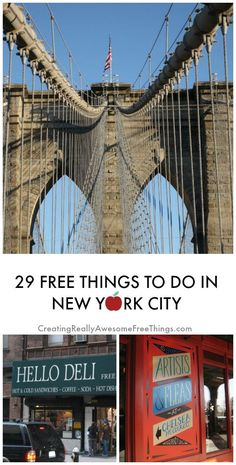 29 Free things to do in New York City! Whahoo!
