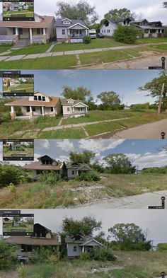 It's no secret that Detroit has fallen on hard times. These crazy time lapse images show nature's slow reclamation of an abandoned city block.