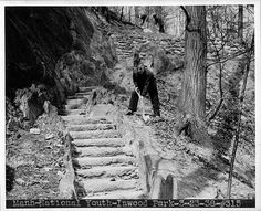 WPA Workers in Inwood Hill Park, 1938.