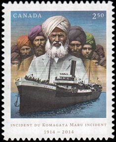 Stamp commemorating the centenary of the Komagata Maru incident Royal Canadian Navy, Heritage Foundation, Canadian History, Heritage Month, Vintage Stamps, World Traveler, Water, Books, Fashion