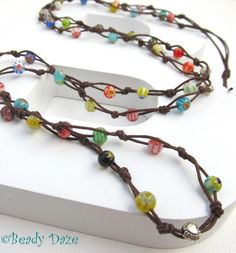 Surfin' Daze long boho surf necklace by Beady Daze @Folksy