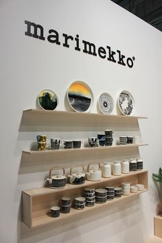 Habitare les tendances made in Finland ! Marimekko, Floating Shelves, Home Accessories, Sweet Home, Fancy, Ceramics, Tableware, How To Make, House