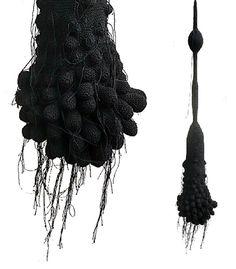 organe2dnoir0 textile fiber fabric crochet art installation sculpture