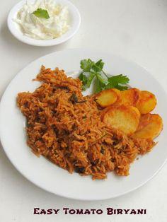 Easy Tomato Biryani, Thakkali Biriyani