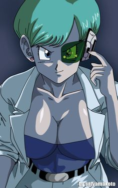 Bulma Briefs (Dragon Ball Z).Haha not what I normally pin for obvious reasons, but I love the fierceness in the eyes.