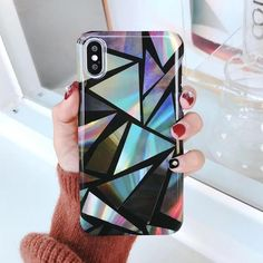Geometric Pattern Colorful Smooth Hard Phone Case For Iphone X 6 7 8 Plus Iphone 8, Used Iphone, Iphone Cases, Hard Phone Cases, Silicone Phone Case, Plus 8, Design Case, Iphone Models, Cell Phone Accessories