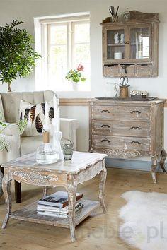 Bielona komoda drewniana Adele 5