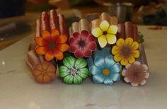 Polymer Clay Tutorial - BackGroundLess Millefiori Flower Cane