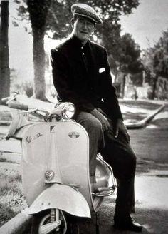 John Wayne on a Vespa.