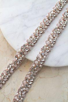Wedding Belts, Wedding Dresses, Wedding Sash, Gold Wedding, Wedding Stuff, Wedding Ideas, Pearl Rose, Rose Gold, Fancy Dress Design