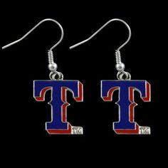 730c5ad59e0453 Texas Rangers Ladies Royal Blue Team Logo Dangle Earrings Texas Rangers
