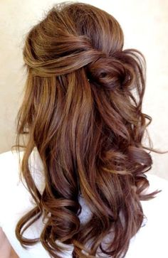Long Hairstyles 2015 with Little Twisted Updo