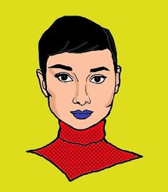 Digital Portrait, Audrey Hepburn, Disney Characters, Fictional Characters, Snow White, My Arts, Photo And Video, Disney Princess, Painting