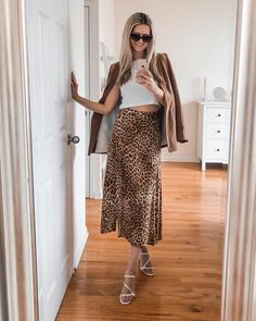 Leopard Skirt, Animal Prints, Your Favorite, Chic, Skirts, Beauty, Clothes, Instagram, Style
