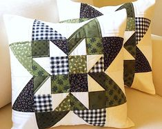 Easy Quilt Pattern Star Pillow Pattern & Free Table Runner Pattern Fat Quarter Patterns – Famous Last Words Quilting Beads Patterns Star Quilt Blocks, Star Quilt Patterns, Patchwork Cushion, Quilted Pillow, Easy Quilts, Mini Quilts, No Sew Pillow Covers, Sunflower Quilts, Table Runner Pattern