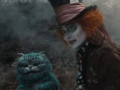 The famous Mad Hatter Tea Party in March Hare's nest Alice In Wonderland Hat, Alice In Wonderland Aesthetic, Adventures In Wonderland, Johnny Depp Mad Hatter, Talking Animals, Edward Scissorhands, Mad Hatter Tea, Tim Burton, Live Action