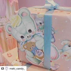 ステキなプレゼントができちゃうセット#Repost @maki_candy_ with @repostapp リボンからクマぴょん