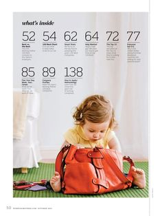 Working Mother Magazine-contents