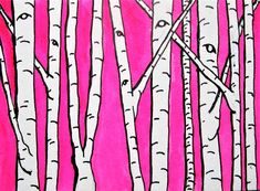 Brightscapes: The Way To Beauty  Pink Birch Forest #264 https://www.etsy.com/listing/244067127/pink-birch-forest-264-artist-trading  My work on view at:  @Bausch​ Rochester Optics Center http://mikekraus.blogspot.com/2018/01/bausch-lomb-rotating-art-program.html &  @Whitman Works Company​