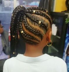 braided hairstyles with beads Box Braids Hairstyles, Crochet Braids Hairstyles For Kids, Toddler Braided Hairstyles, Toddler Braids, Black Kids Hairstyles, Braids For Kids, Girls Braids, Little Girl Hairstyles, African Hairstyles