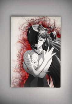 Elfen Lied Nyu Lucy Anime Manga Aquarell Druck von EpicShoppe