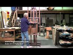 Hughes Easels Model 2010 and Display Easel.  VIDEOS OF HOW ALL HUGHES EASELS FUNCTION!  WATCH AND BE AMAZED...