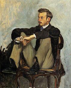 Frédéric Bazille, Portrait of Pierre-Auguste Renoir, 1867