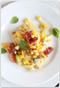 The Italian Dish - Posts - Pasta with Sweet Corn andGorgonzola -- a great use for all that fresh corn!