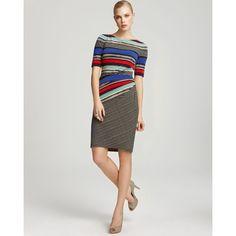 Anne Klein Dress Sheath - Striped
