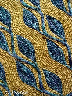 Diy Crafts - Ravelry: Scarf Ornament pattern by Svetlana Gordon Knitting Stiches, Crochet Stitches, Knitting Patterns, Crochet Patterns, Knitted Shawls, Crochet Shawl, Knit Crochet, Shawl Patterns, Stitch Patterns
