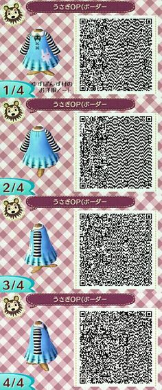 Animal Crossing: NL QR Codes  [Cute Punk Outfit]